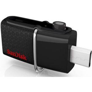 CLÉ USB SANDISK Clé USB - ULTRA Dual Drive 3.0 - 128Go - N