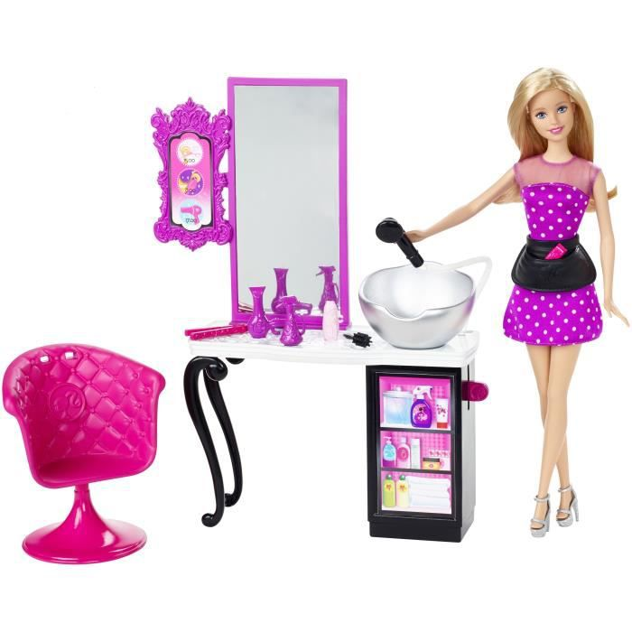 Barbie boutique malibu salon de coiffure achat vente for Salon de coiffure barbie