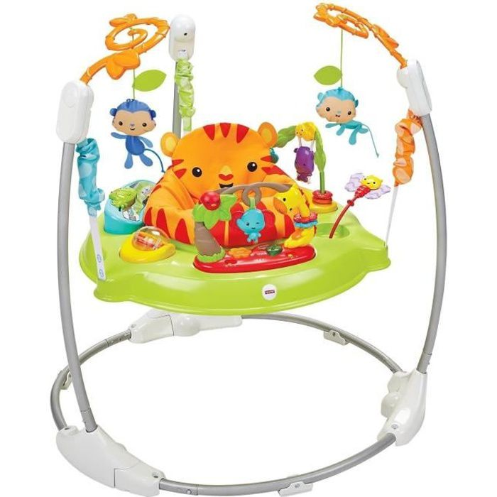 fisher price trotteur jumperoo jungle sons lumieres multicolores achat vente youpala. Black Bedroom Furniture Sets. Home Design Ideas