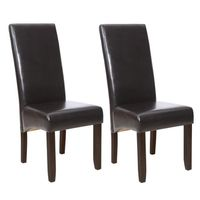 CHAISE  Lot de 2 chaises CUBA marron
