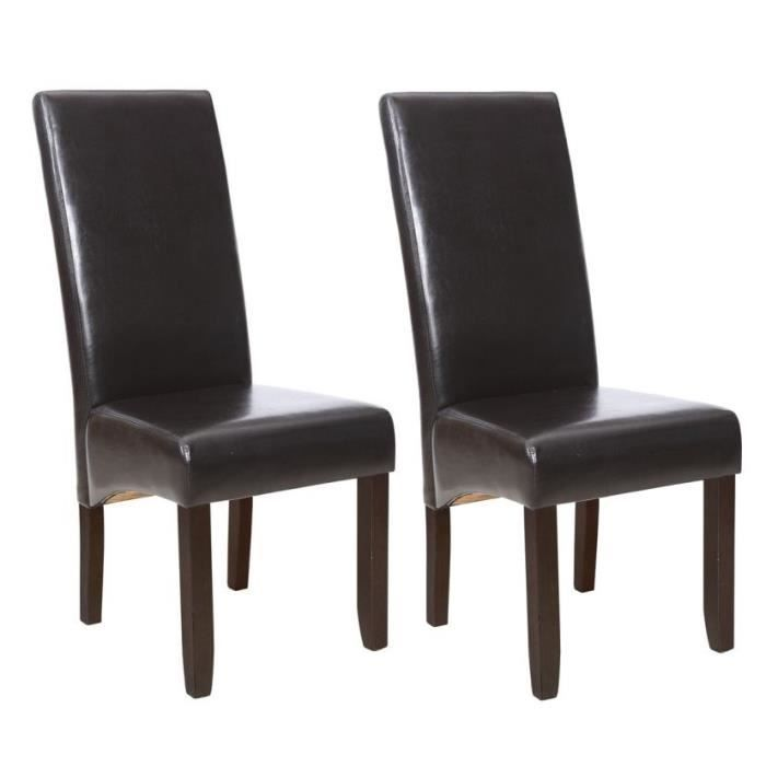 chaises marron achat vente chaises marron pas cher. Black Bedroom Furniture Sets. Home Design Ideas