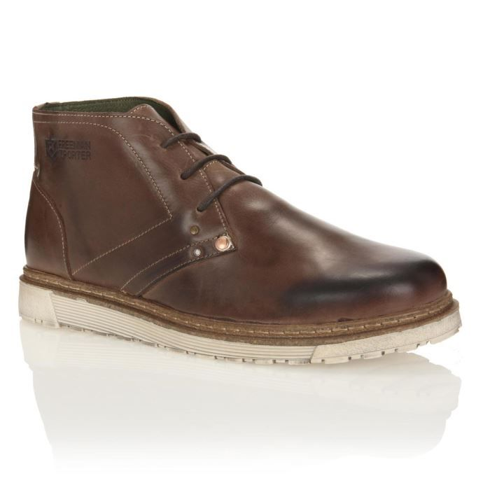 Freeman t porter bottines cuir briswell homme homme marron for Bottines freeman t porter