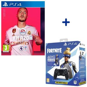 CONSOLE PS4 Pack PlayStation : FIFA 20 + Manette DualShock Noi