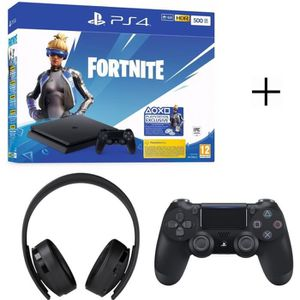 CONSOLE PS4 Pack Fortnite : PS4 500Go avec Voucher Fortnite +