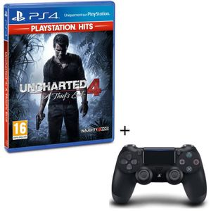 JEU PS4 Pack Uncharted 4 A Thief's End PlayStation Hits +