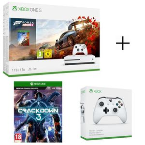 CONSOLE XBOX ONE Console Xbox One S 1 To Forza Horizon 4 + CrackDow