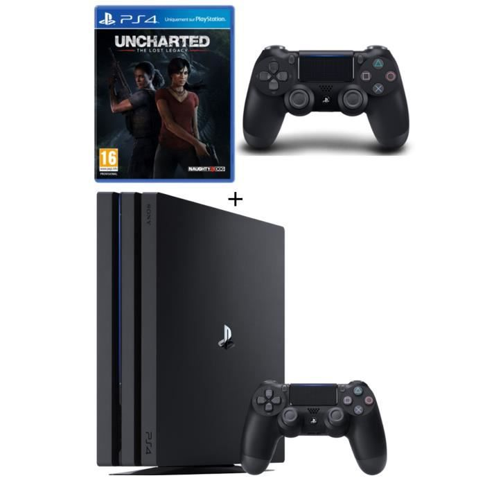 console ps4 pro 1to 2 me manette uncharted the. Black Bedroom Furniture Sets. Home Design Ideas