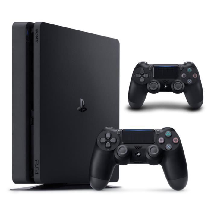 nouvelle ps4 slim 500 go noire 2e manette dualshock. Black Bedroom Furniture Sets. Home Design Ideas