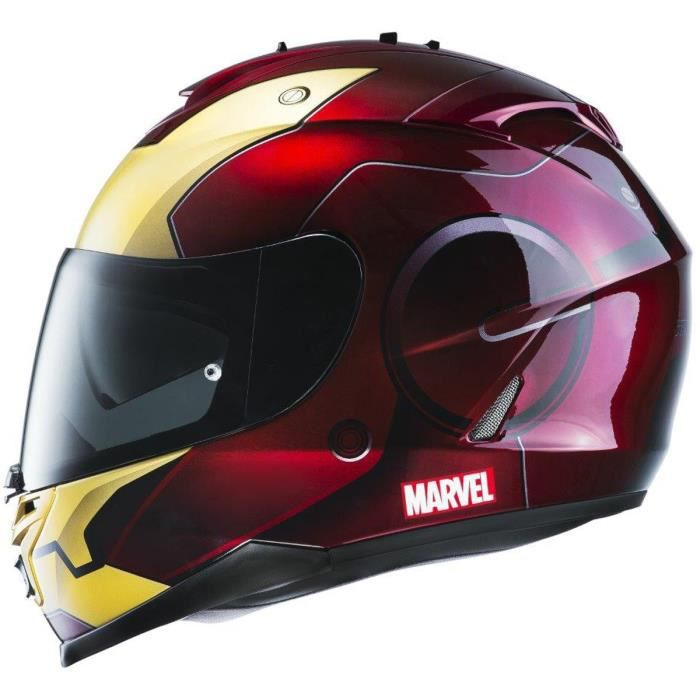 hjc is 17 iron man casque int gral rouge et gold licence marvel achat vente casque moto. Black Bedroom Furniture Sets. Home Design Ideas