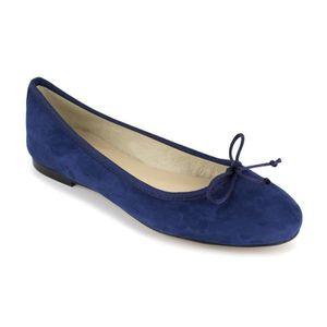 BALLERINE PIERRE CARDIN Ballerines en cuir - Femme - Bleu ma