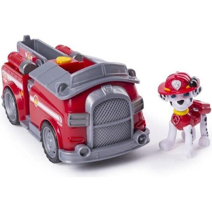 FIGURINE - PERSONNAGE PAT PATROUILLE Figurine rouge Marcus + Camion de P