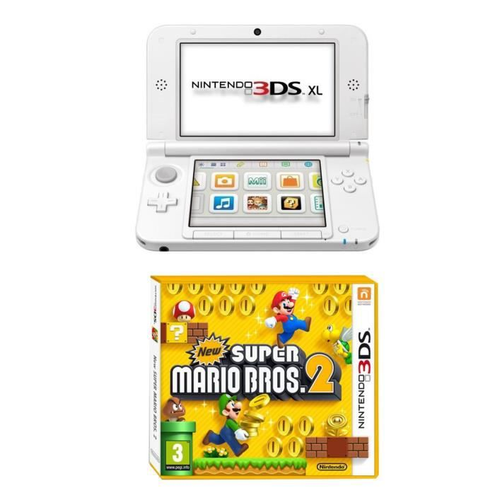pack console 3ds xl jeu new super mario bros 2 achat vente console 3ds nintendo 3dsxl new. Black Bedroom Furniture Sets. Home Design Ideas