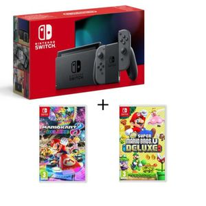 SORTIE CONSOLE NINTENDO SWITCH Pack Nintendo Switch Grise + New Super Mario Bros