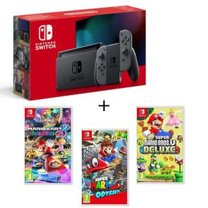 SORTIE CONSOLE NINTENDO SWITCH Pack Nintendo Switch Grise + New Sup.Mario BrosU D