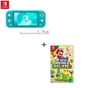 CONSOLE NINTENDO SWITCH Console Switch Lite Turquoise + Jeu Switch Super M