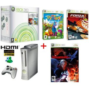 CONSOLE XBOX 360 PACK XBOX 360 VALUE HDMI + DEVIL MAY CRY 4 (action