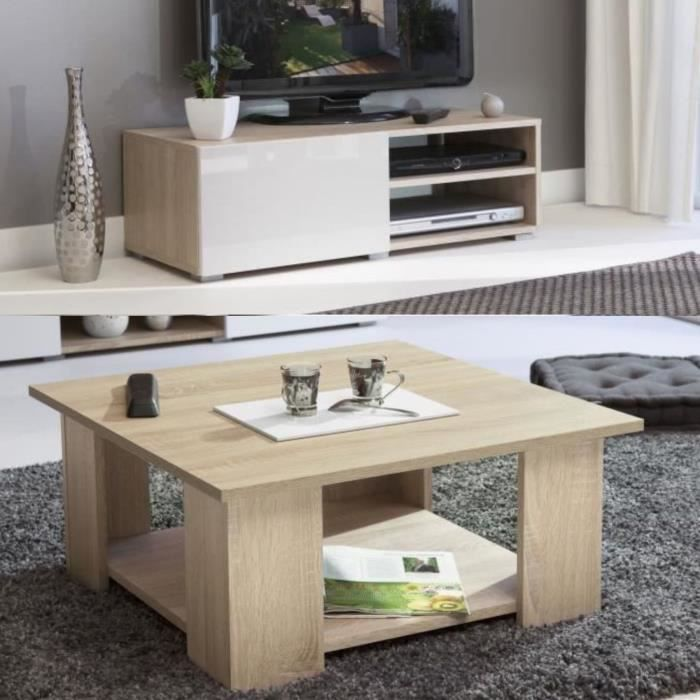 Ensemble meuble tv et table basse achat vente ensemble for Ensemble meuble de salon