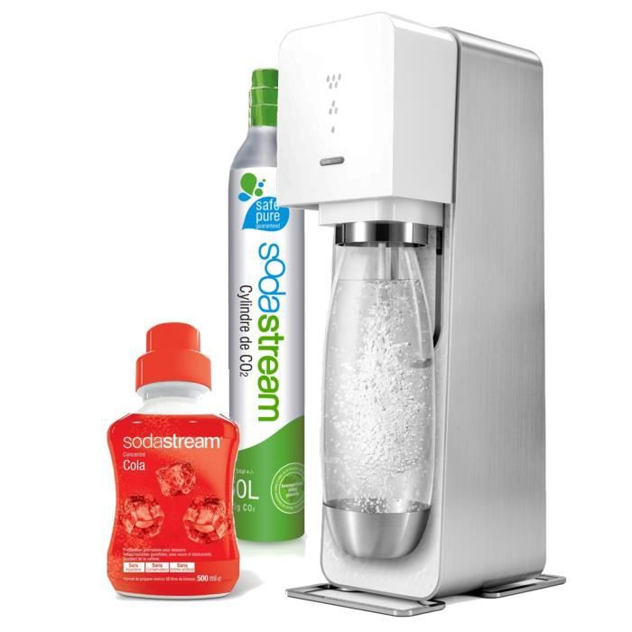 sodastream mega pack source m tal blanche achat vente. Black Bedroom Furniture Sets. Home Design Ideas