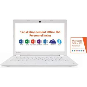 ORDINATEUR PORTABLE Lenovo PC Portable Ideapad 100S11IBY 11