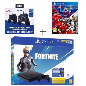 CONSOLE PS4 Pack PlayStation : PS4 Slim 500 Go Noire  + eFootb