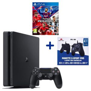 CONSOLE PS4 PS4 Slim 500 Go Noire + eFootball PES2020 + Manett