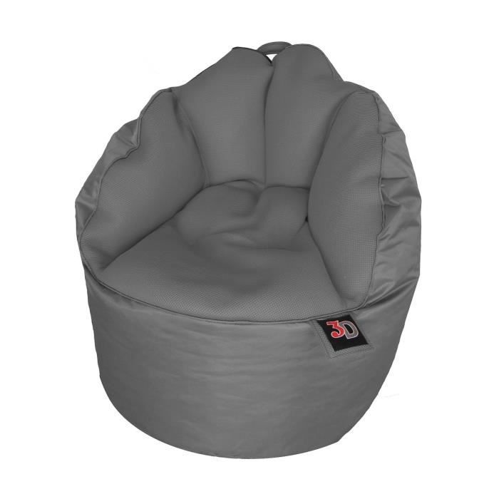 fauteuil pouf gaming mesh 65 cm gris achat vente pouf poire cdiscount. Black Bedroom Furniture Sets. Home Design Ideas