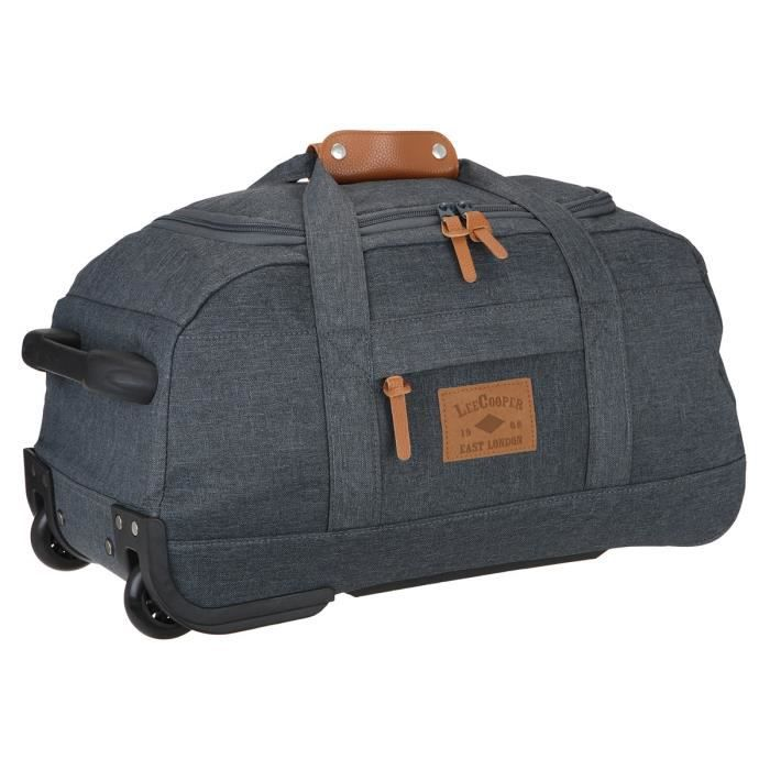 lee cooper sac de voyage roulettes 2 roues 55cm weekend gris gris achat vente sac de. Black Bedroom Furniture Sets. Home Design Ideas