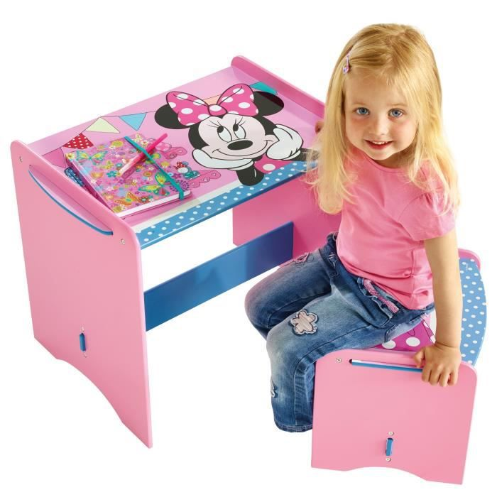 minnie mouse mon premier bureau en bois enfant et tabouret worlds appart achat vente. Black Bedroom Furniture Sets. Home Design Ideas