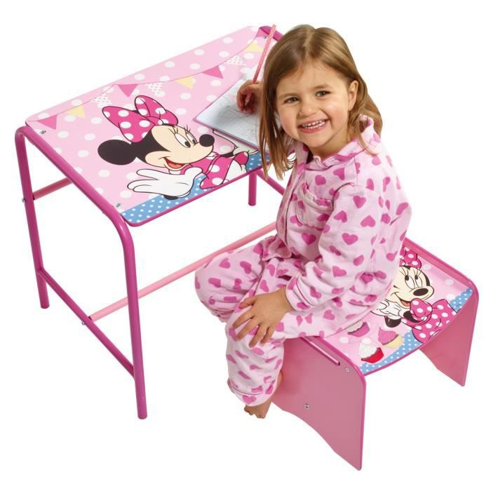 minnie mouse bureau enfant et tabouret achat vente bureau b b enfant cdiscount. Black Bedroom Furniture Sets. Home Design Ideas
