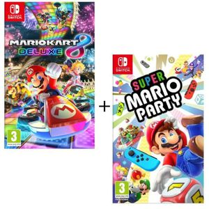 JEU NINTENDO SWITCH Pack 2 jeux Switch : Super Mario Party + Mario Kar