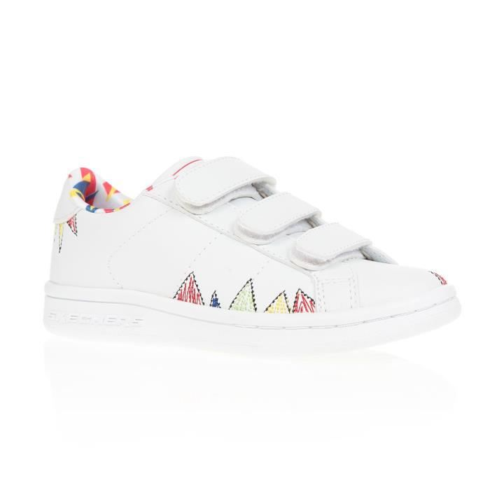 Skechers Omne-Scribble Squad, Baskets Fille, Blanc (White/Multicolour), 35 EU