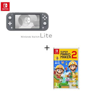 CONSOLE NINTENDO SWITCH Console Switch Lite Grise + Jeu Switch Super Mario