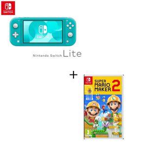 CONSOLE NINTENDO SWITCH Console Switch Lite Turquoise + Jeu Switch Super M