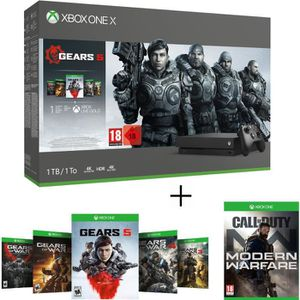 CONSOLE XBOX ONE Xbox One X 1 To + 5 Jeux Gears of War + COD : Mode