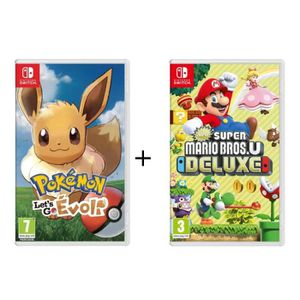 JEU NINTENDO SWITCH Pack 2 Jeux Nintendo Switch : Pokémon : Let's go,