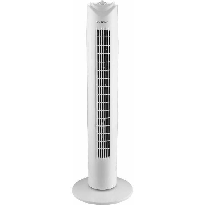 VENTILATEUR OCEANIC Ventilateur colonne 81 cm - 45 watts - 3 v