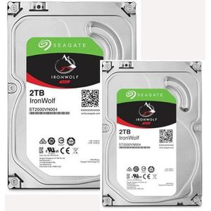 PACK COMPOSANT SEAGATE Pack de 2 Disques durs NAS HDD Iron Wolf 2