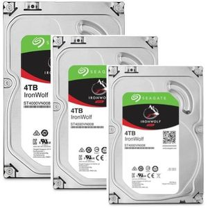 DISQUE DUR INTERNE SEAGATE Pack de 3 disques durs NAS HDD Iron Wolf 4