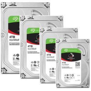 DISQUE DUR INTERNE SEAGATE Pack de 4 disques durs NAS HDD Iron Wolf 4