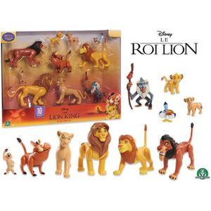 FIGURINE - PERSONNAGE LE ROI LION - Coffret 10 Figurines et Accessoires