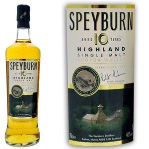WHISKY BOURBON SCOTCH Speyburn 10 ans 70cl