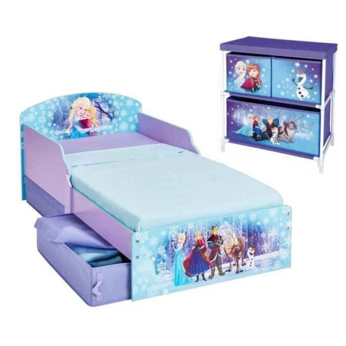 la reine des neiges pack lit enfant avec tiroirs meuble de rangement achat vente structure. Black Bedroom Furniture Sets. Home Design Ideas