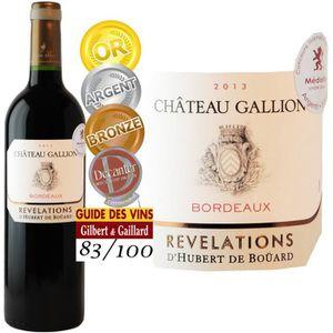VIN ROUGE Château Gallion 2013 Bordeaux - Vin rouge de Borde