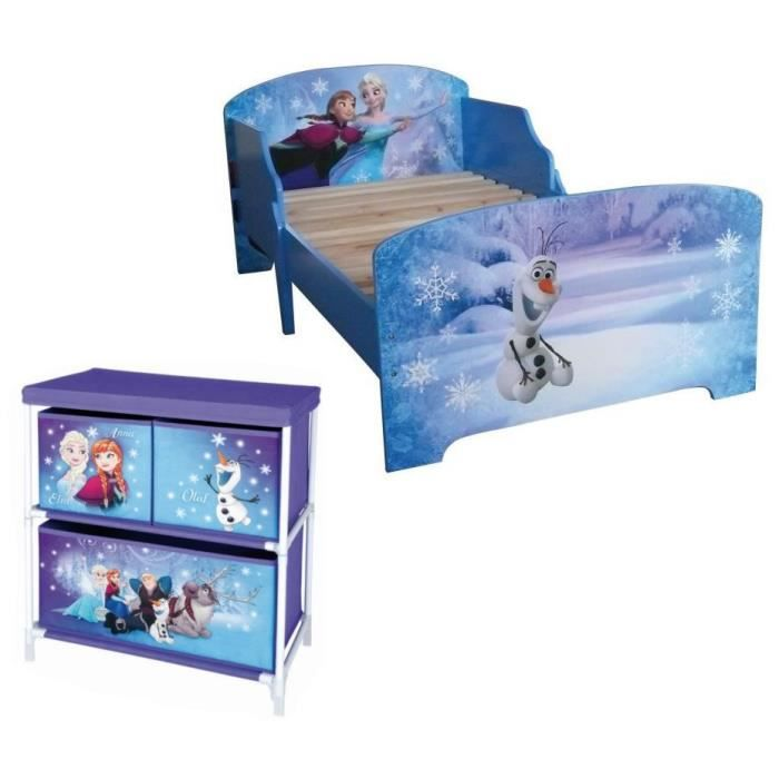 la reine des neiges pack lit enfant avec lattes meuble. Black Bedroom Furniture Sets. Home Design Ideas