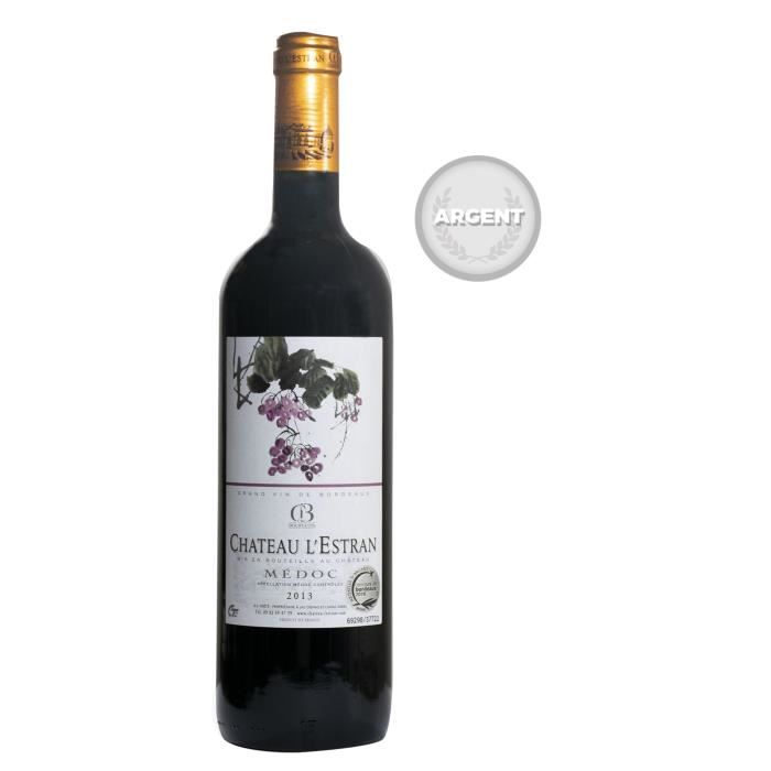 VIN ROUGE Château L'Estran 2013 Médoc - Vin Rouge du Bordela