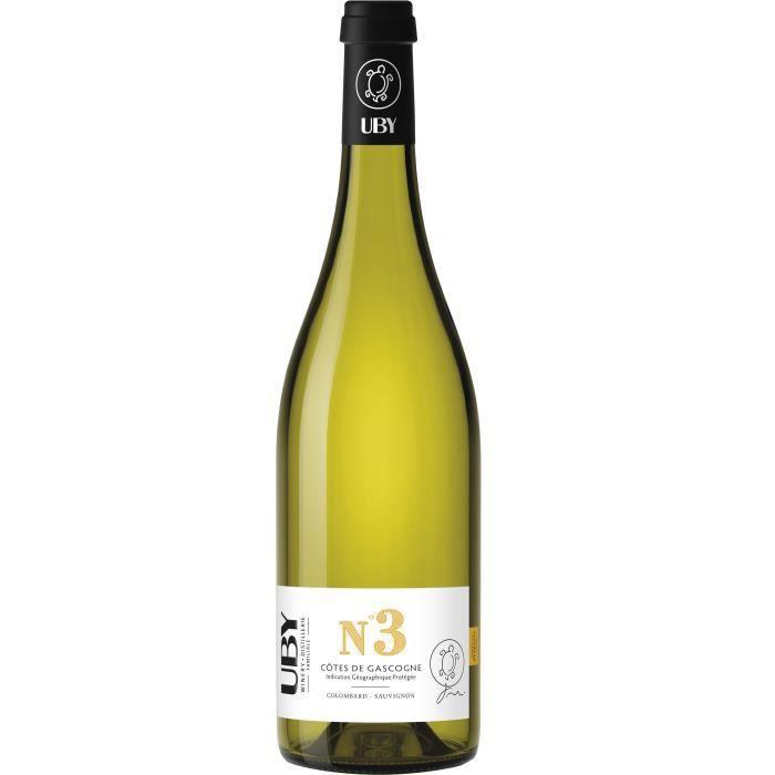 VIN BLANC UBY N°3 Côtes de Gascogne Colombard Sauvignon Blan