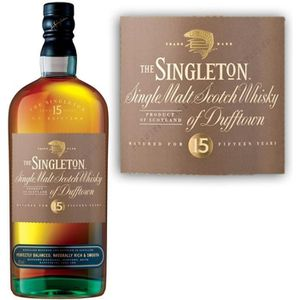 WHISKY BOURBON SCOTCH SINGLETON OF DUFFTOWN 15 ANS