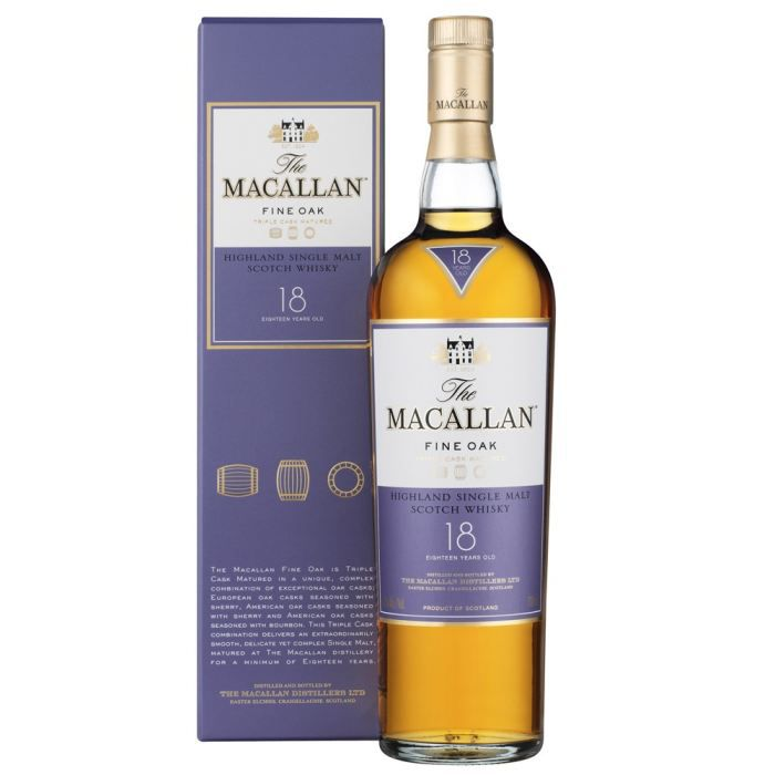 WHISKY BOURBON SCOTCH The Macallan Fine Oak 18 ans