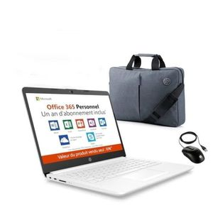 ORDINATEUR PORTABLE HP PC Portable 14''HD 14-cm0995nf - AMD A4-9125-RA
