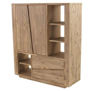 armoire chambre bois massif achat vente armoire. Black Bedroom Furniture Sets. Home Design Ideas